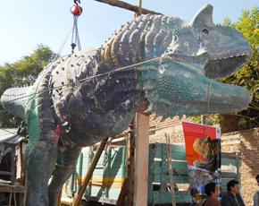 EL carnotauro es el primer Dinosaurio para el parque jurásico en Toro Toro (Foto APG).